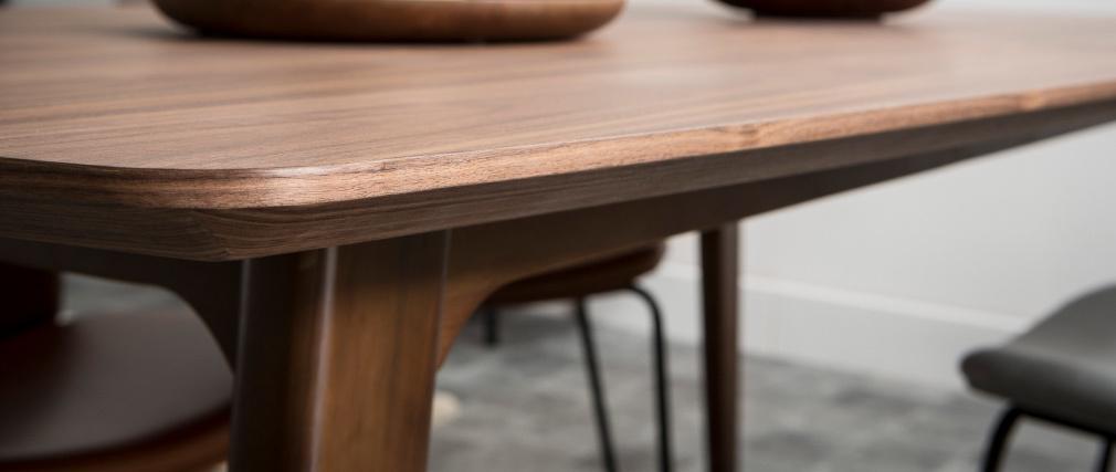 Table à manger design extensible noyer L180-230 FIFTIES