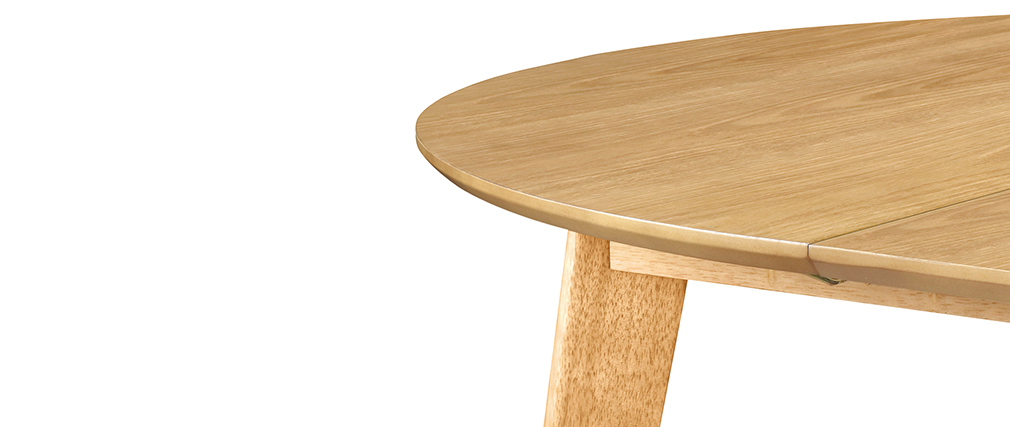 Table à manger design ronde extensible chêne L120-150 LEENA