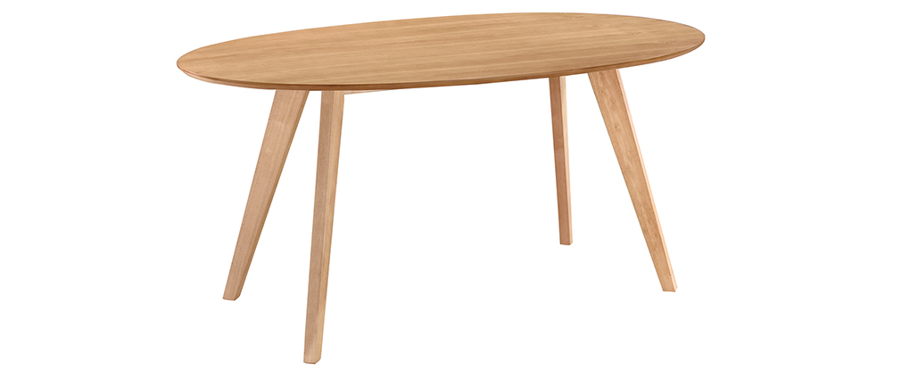 Table à manger design scandinave ovale chêne MARIK