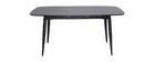 Table à manger extensible bois noir L130-160 cm NORDECO - Miliboo & Stéphane Plaza