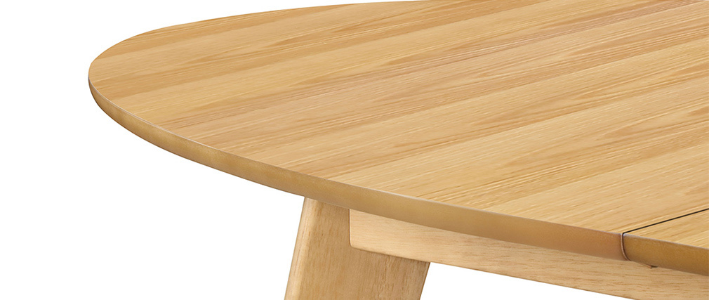 Table à manger extensible finition chêne L150-200 cm MARIK