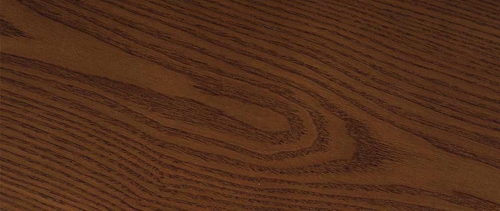 Table à manger ronde design 106 cm noyer WALFORD