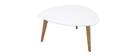 Table basse design blanc L80 cm EKKA