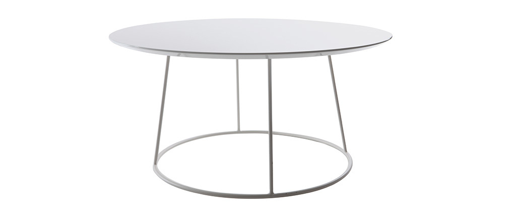 Table basse design blanche KALY