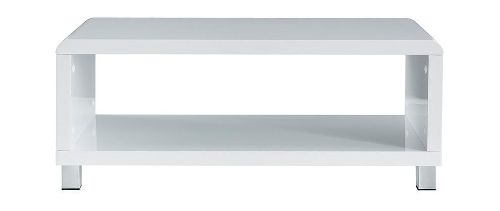 Table basse design laquée blanche ROXY