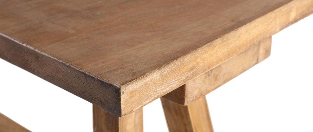Table basse industrielle bois ANTIQUA