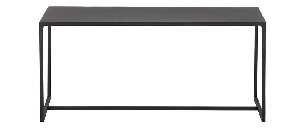 Table basse industrielle métal noir KARL
