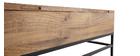 Table basse relevable industrielle manguier massif et métal L110 cm YPSTER