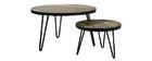 Table basse ronde design industriel L80 x H45 cm ATELIER