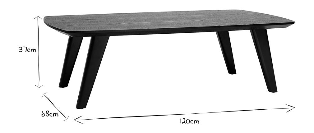Table basse vintage noyer L120cm FIFTIES