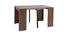 Table console extensible design noyer CALEB