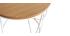 Table d'appoint bois et métal blanc D42 x H40 cm LACE - Miliboo & Stéphane Plaza