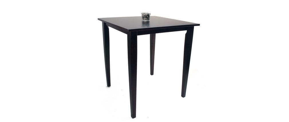 Table de bar carr e contemporaine en ch ne massif polly for Table carree contemporaine