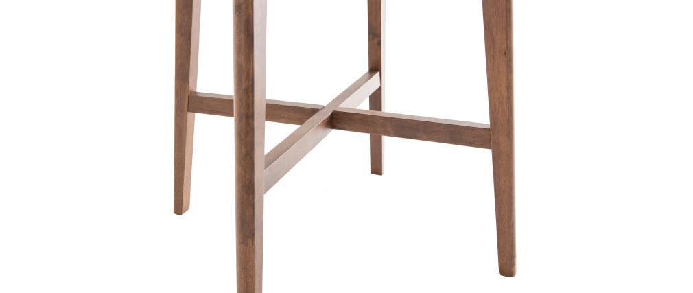 Table de bar design ronde bois noyer DEMORY