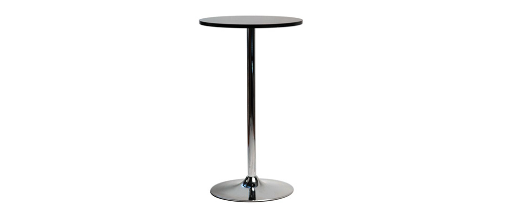Table de bar design ronde noir JAMES