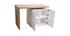 Table de bar modulable avec rangement blanc mat et chêne H91 cm MAX