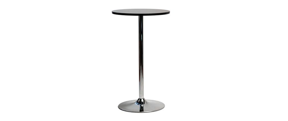 Table de bar noir ronde James