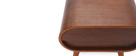 Table de chevet design noyer 1 tiroir BJORG