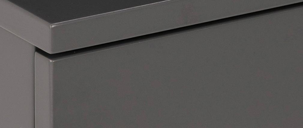 Table de chevet murale laquée mate grise MITSY