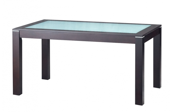 Table de cuisine salle manger contemporaine en ch ne - Table cuisine verre trempe ...