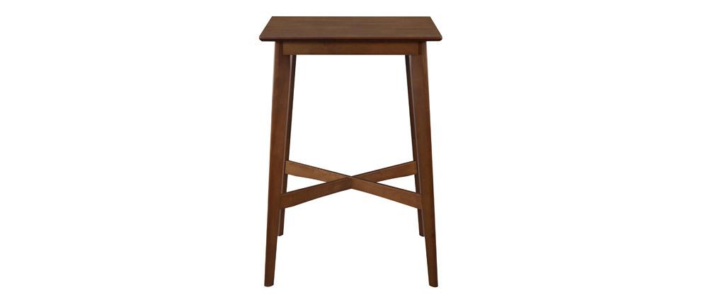 Table haute carrée noyer LEENA
