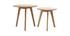 Tables d'appoint rondes chêne (lot de 2) ORKAD
