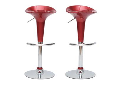 Tabouret de bar / cuisine design lie de vin GALAXY (lot de 2)