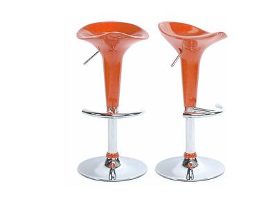 Tabouret de bar / cuisine orange design GALAXY (lot de 2)