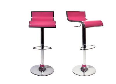 Tabouret de bar / cuisine rose design WAVES (lot de 2)