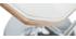 Tabouret de bar design blanc et bois clair MELKIOR