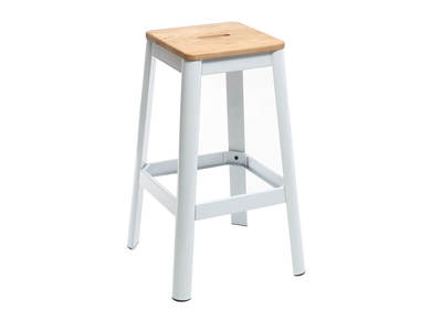 Tabouret de bar design blanc H75cm NICK