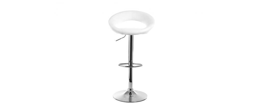 Tabouret de bar design blanc NEWTON