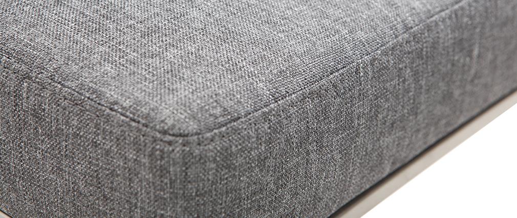Tabouret de bar design métal et tissu gris foncé 66 cm (lot de 2) HALEY