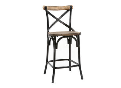 Tabouret de bar design noir JAKE