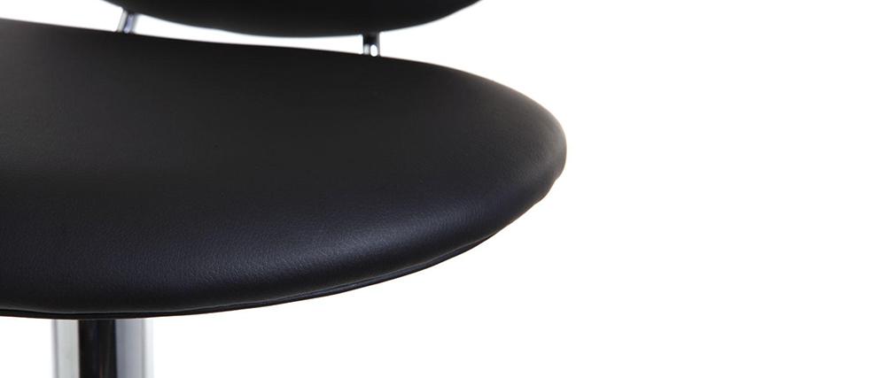 Tabouret de bar design noir STONE