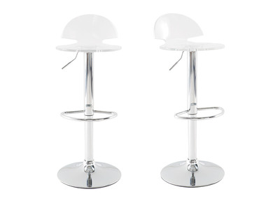 Tabouret de bar design plexiglas transparent lot de 2 ORION