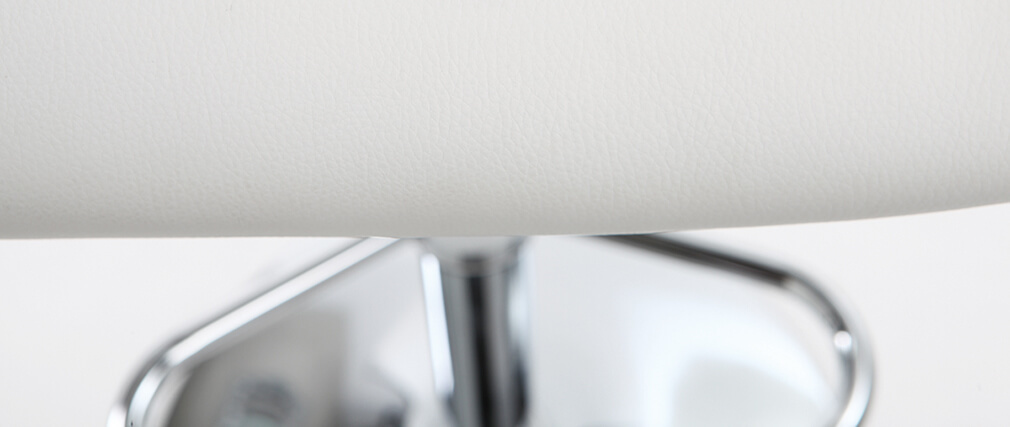 Tabouret de bar design polyuréthane blanc lot de 2 CYRUS