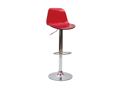 Tabouret de bar design rouge transparent GALILEO