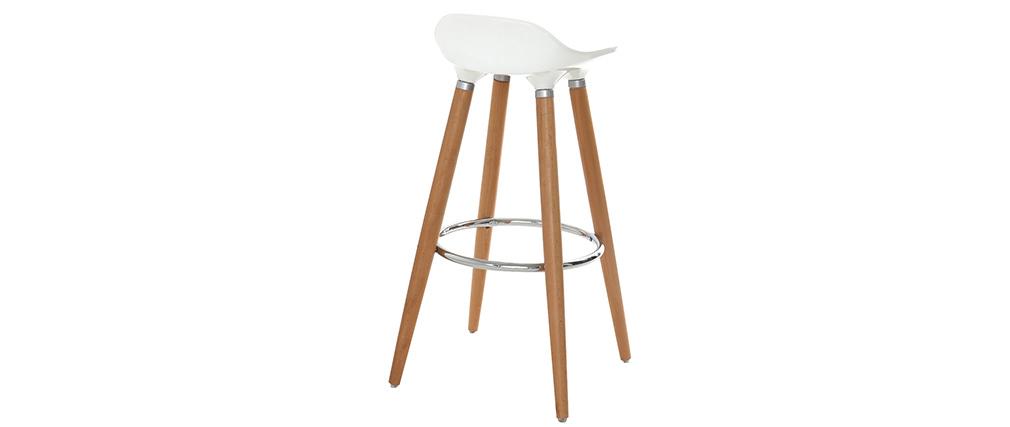 Tabouret de bar design scandinave blanc GILDA