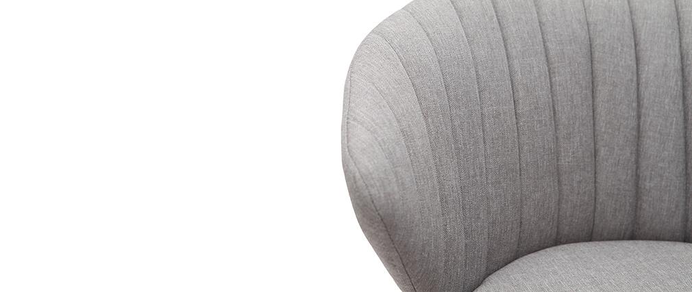 Tabouret de bar design tissu gris 65 cm DALLY