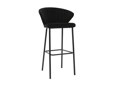 Tabouret de bar design velours noir DALLY - Miliboo & Stéphane Plaza