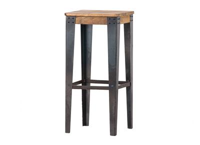 Tabouret de bar industriel acier et bois 75cm MADISON