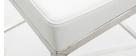 Tabouret design 66cm blanc (lot de 2) EPSILON