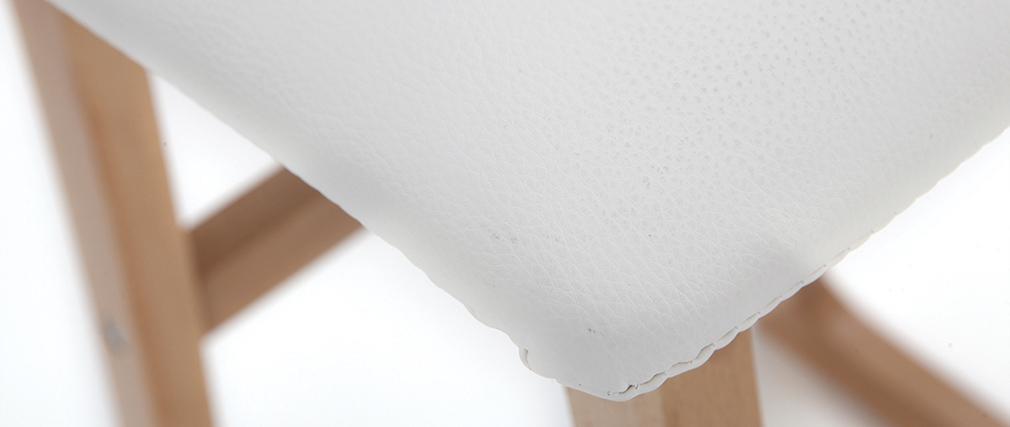 Tabourets de bar bois clair et blanc 65 cm (lot de 2) OSAKA