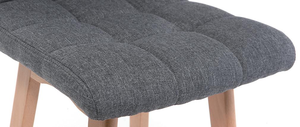 Tabourets de bar bois et gris foncé 65 cm (lot de 2) KLARIS