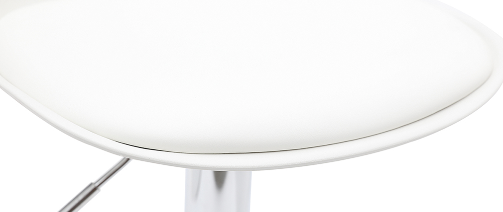 Tabourets de bar design blancs (lot de 2) STEEVY