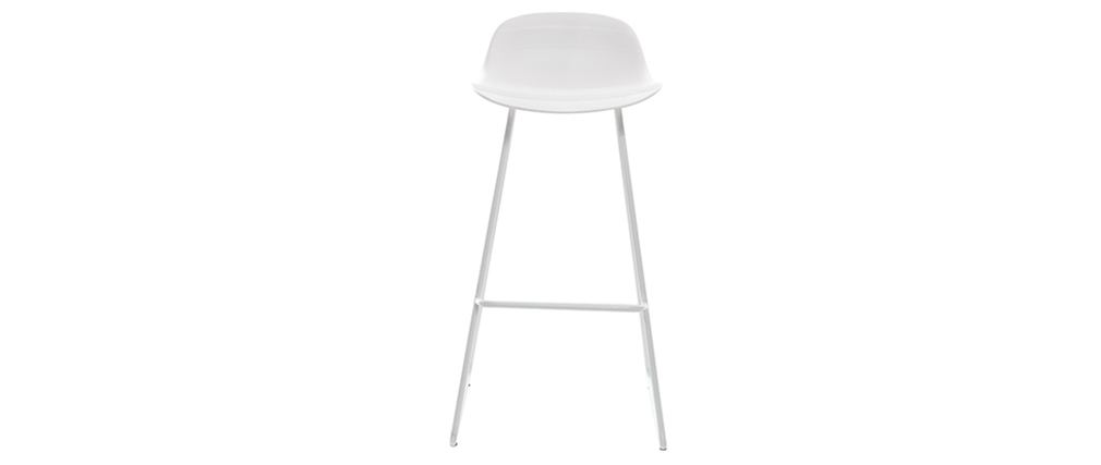 Tabourets de bar design blancs (lot de 2) STELLA