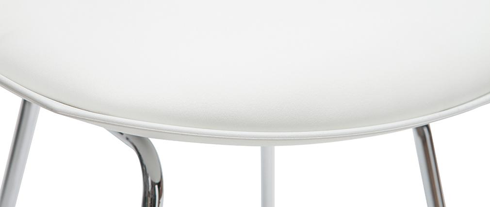 Tabourets de bar design blancs 65 cm (lot de 2) JUNE