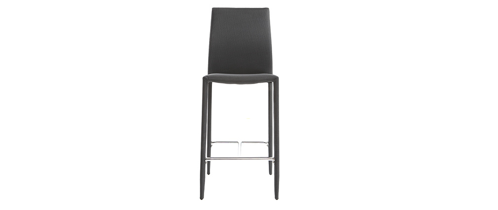 Tabourets de bar design gris anthracite (lot de 2) TALOS