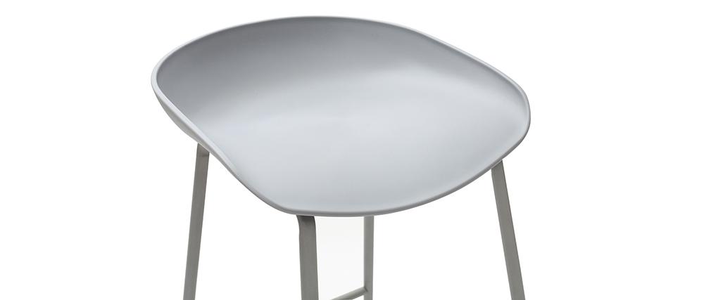 Tabourets de bar design gris H75 cm (lot de 2) PEBBLE